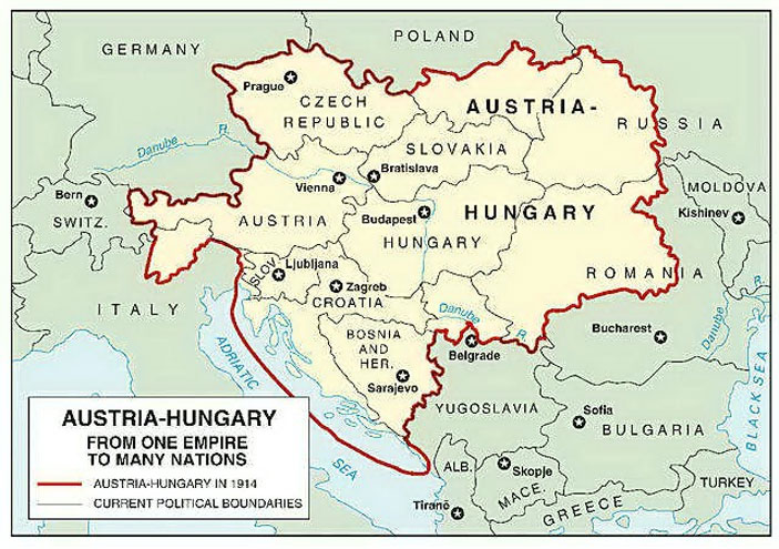 Causes world war i global chaos austria hungary map before and after world war i gumiabroncs Image collections